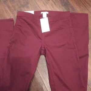 H&M Maroon Jeans Size 4 NWT